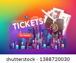 abstract colorful banner... | Shutterstock .eps vector #1388720030