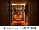 Long Dark Corridor In A Luxury...