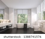 Luxurious Bathroom With Natural ...