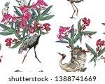 seamless pattern tropical... | Shutterstock .eps vector #1388741669
