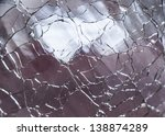 macro shot of clear cracked... | Shutterstock . vector #138874289