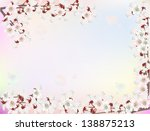 illustration with cherry tree... | Shutterstock .eps vector #138875213
