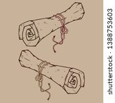 scroll icon. vector...   Shutterstock .eps vector #1388753603