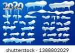 2020 snow caps  snowballs and... | Shutterstock .eps vector #1388802029