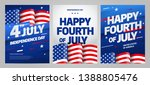 happy independence day 4 th... | Shutterstock .eps vector #1388805476