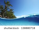 Blue Tropical Clear Sea With...