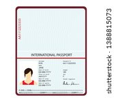 passport with biometric data.... | Shutterstock .eps vector #1388815073