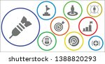 aspirations icon set. 9 filled... | Shutterstock .eps vector #1388820293