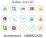 rural icon set. 15 flat rural... | Shutterstock .eps vector #1388821430