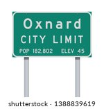 oxnard city limit road sign | Shutterstock .eps vector #1388839619