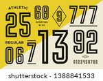 numbers font. sport font with... | Shutterstock .eps vector #1388841533