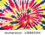close up shot of tie dye fabric ... | Shutterstock . vector #138885344