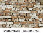 pattern of red brick wall for... | Shutterstock . vector #1388858753