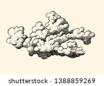 Vector Isolated Cloud....