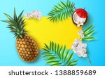 summer banner with realistic...   Shutterstock .eps vector #1388859689