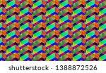 isometric seamless pattern ... | Shutterstock .eps vector #1388872526