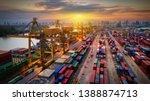logistics and transportation of ... | Shutterstock . vector #1388874713