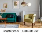 stylish and tasty living room... | Shutterstock . vector #1388881259