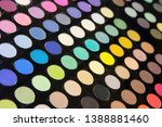 multicolored eye shadow palette ... | Shutterstock . vector #1388881460