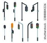 traffic lights icons set....   Shutterstock .eps vector #1388884226