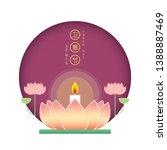 happy vesak day or buddha...   Shutterstock .eps vector #1388887469