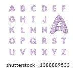 vector linear alphabet with... | Shutterstock .eps vector #1388889533