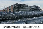 warehouse of finished plastic...   Shutterstock . vector #1388890916