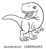 a t rex tyrannosaurus dinosaur... | Shutterstock .eps vector #1388903393