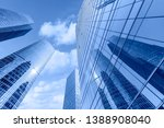 low angle view of skyscrapers... | Shutterstock . vector #1388908040