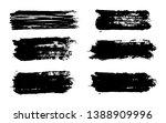 brush strokes. vector... | Shutterstock .eps vector #1388909996