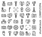 action camera icons set.... | Shutterstock .eps vector #1388915396