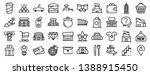mall icons set. outline set of... | Shutterstock .eps vector #1388915450