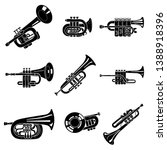 Trumpet Icons Set. Simple Set...