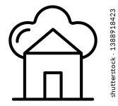 smart home icon. outline smart... | Shutterstock .eps vector #1388918423