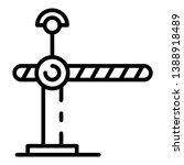 railway barrier icon. outline... | Shutterstock .eps vector #1388918489