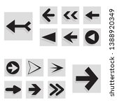 arrow back and right icon set...