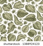 seamless pattern. beautiful... | Shutterstock .eps vector #1388924123