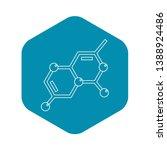 chemistry icon. outline... | Shutterstock .eps vector #1388924486