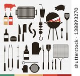 vector set of barbecue  grill... | Shutterstock .eps vector #138893270