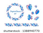 set of different tropical... | Shutterstock .eps vector #1388940770