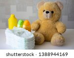 disposable nappies  baby... | Shutterstock . vector #1388944169