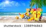 Tropical Beach With Sunbathing...