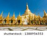 Shwedagon Paya is the most sacred golden buddhist pagoda in Myanmar. Yangon, Myanmar