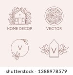 vector logo design template in... | Shutterstock .eps vector #1388978579
