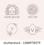 vector logo design template in... | Shutterstock .eps vector #1388978579