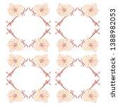 floral pattern design. stylised ... | Shutterstock .eps vector #1388982053