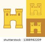 letter h castle initial... | Shutterstock .eps vector #1388982209