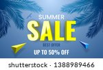 summer sale banner  best offer  ... | Shutterstock .eps vector #1388989466