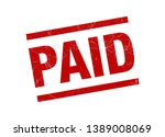 paid stamp seal red grunge...   Shutterstock .eps vector #1389008069