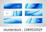 vector abstract flow wavy... | Shutterstock .eps vector #1389010529